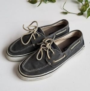 Sperry | Gray Canvas Boat Shoe